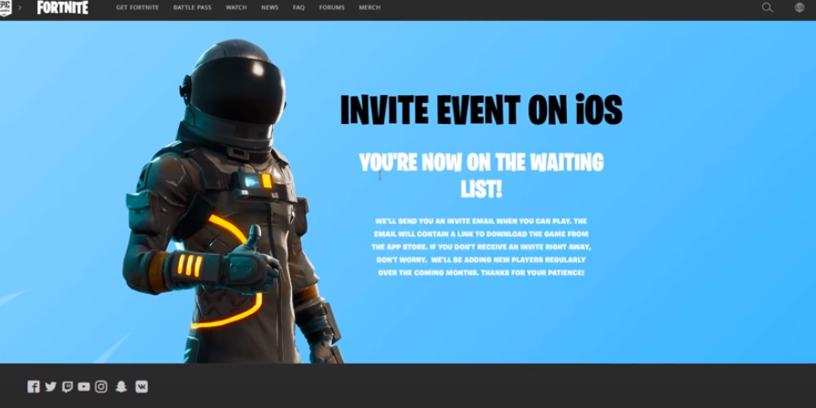 How to Sign Up for Fortnite iOS